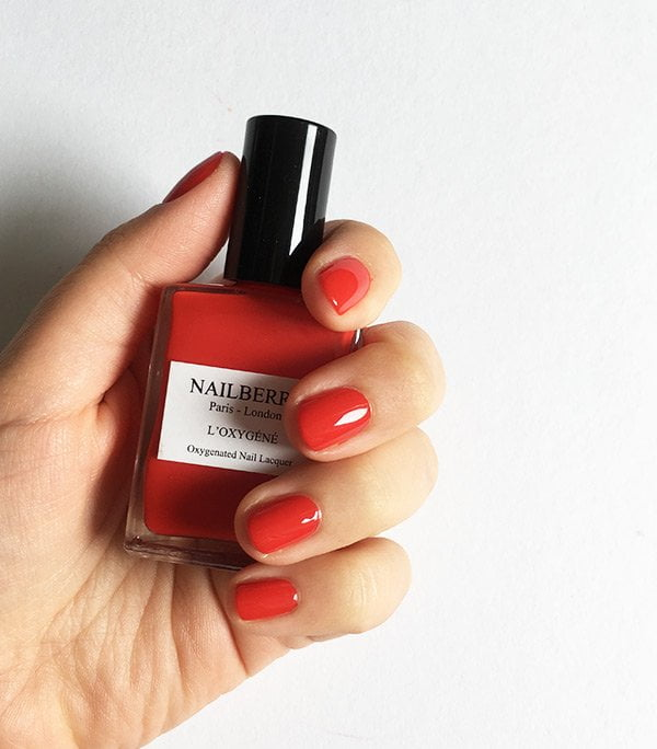 Nailberry non toxic nail polish: Pop My Berry, swatched by Hey Pretty Beauty Blog Switzerland