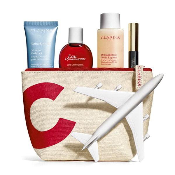 Für die Städtereise packen mit Hey Pretty: Clarins Reise-Kit