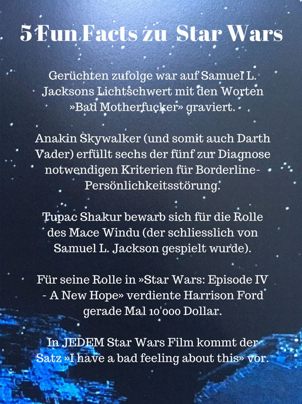 5 Fun Facts zu Star Wars, die du noch nicht wusstest (Hey Pretty Beauty Blog)