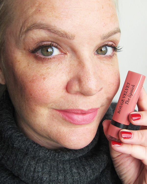 Bourjois Rouge Velvet The Lipstick in Flaming Rose 02, Swatched by Hey Pretty