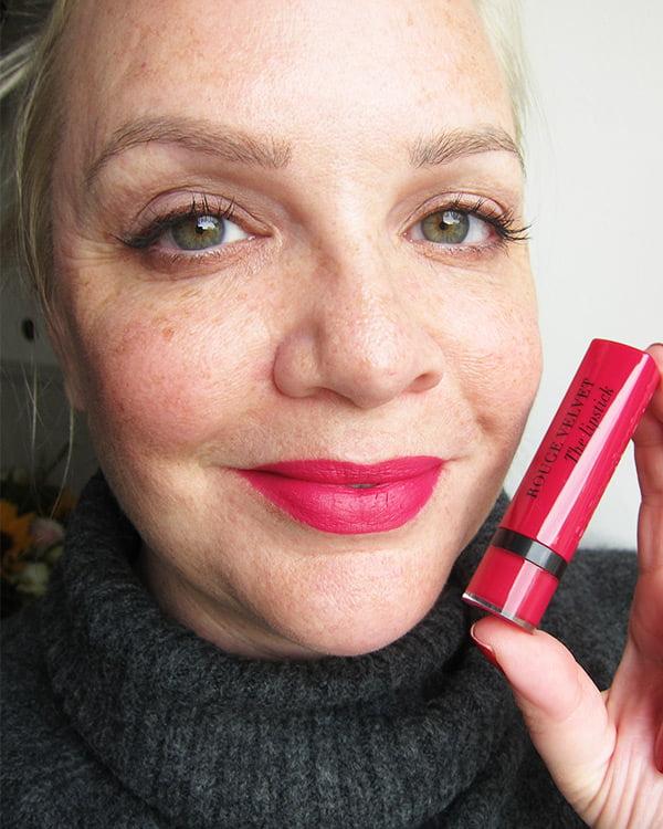Bourjois Rouge Velvet Lipstick in Fuchsia Botté 09 (Swatched by Hey Pretty)
