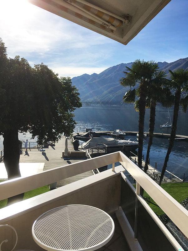 Hotel Eden Roc Ascona: Aussicht vom Balkon (Hey Pretty Travels)