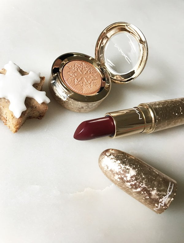 MAC Snow Ball Collection 2017: Elle Belle Lipstick and Delicate Drift Extra Dimension Eye Shadow (Image and Review by Hey Pretty)