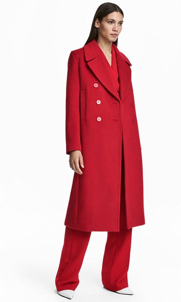 Die schönsten Wintermäntel 2017: Roter Wollmantel von H&M (Hey Pretty Fashion Flash)
