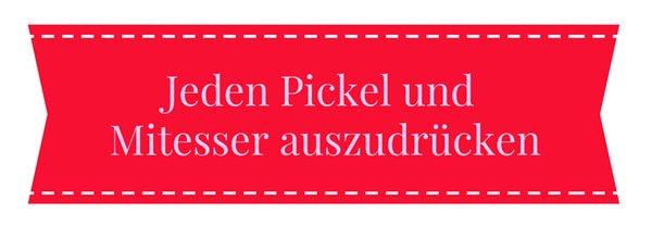 Beautysünde: Jeden Pickel oder Mitesser auszudrücken!