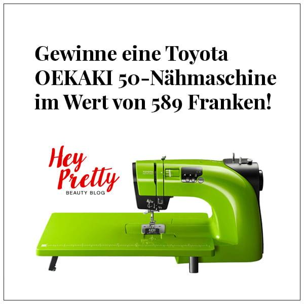 Verlosung Toyota OEKAKI 50 Nähmaschine auf Hey Pretty