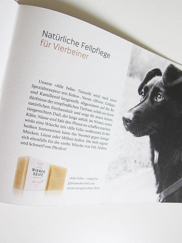 Seife für Haustiere: «Alle Felle» Stückseife von Wiener Seife