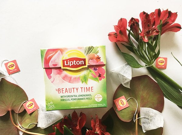 Lipton QualiTeaTime mit Beauty Time Tee (Image by Hey Pretty)