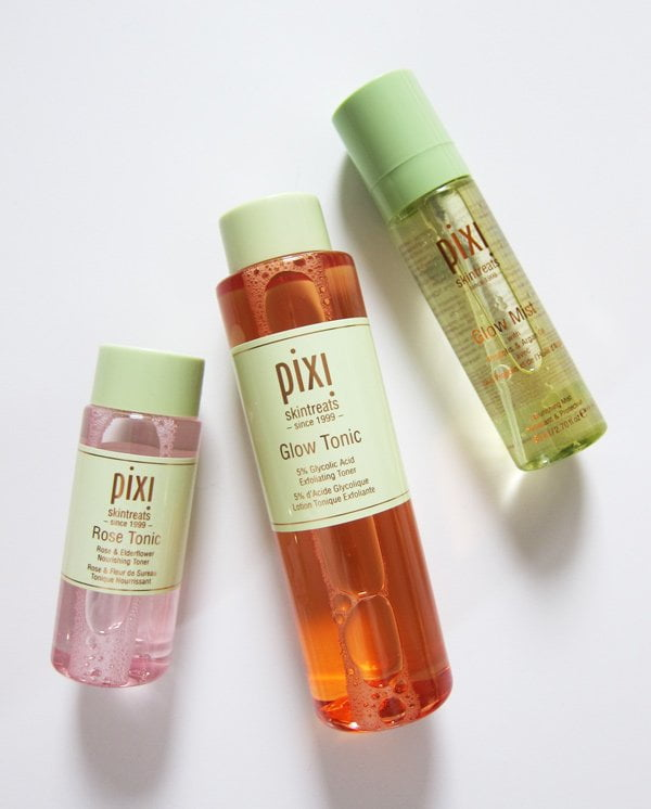 Pixi Beauty Rose Tonic, Glow Tonic and Glow Mist (Review and Image by Hey Pretty Beauty Blog)