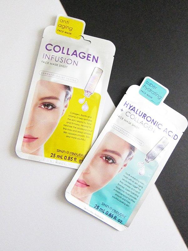 Skin Republic Collagen Infusion and Hyaluronic Acid + Collagen Face Sheet Masks (Erfahrungsbericht auf Hey Pretty)
