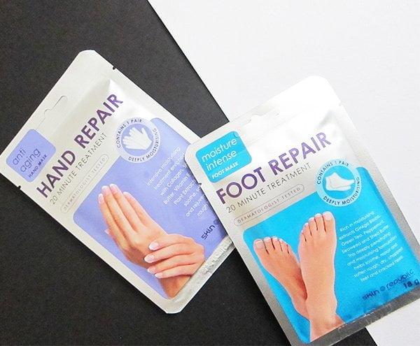 Erfahrungsbericht Hand Repair und Foot Repair Tuchmasken von Skin Republic (Hey Pretty Beauty Blog)