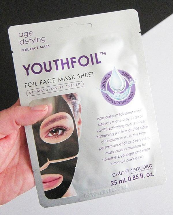 Skinrepublic Youthfoil Face Mask Review on Hey Pretty Beauty Blog