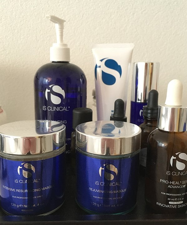 iS Clinical Products used for the Fire & Ice Facial (Skintherapist Zürich), Image by Hey Pretty Beauty Blog