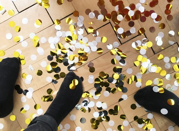 Konfetti: How NOT to do (Happy New Year from Hey Pretty)