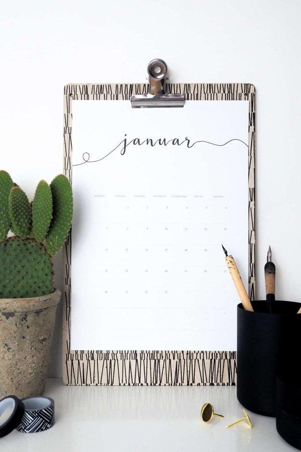 Free Printable Kalender 2018 von Paulsvera (die schönsten Gratis Downloads Kalender 2018 auf Hey Pretty)