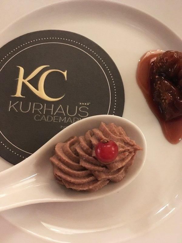 Küchengruss! Dinner im Gourmet-Restaurant La Cucina, Kurhaus Cademario (Image by Hey Pretty)