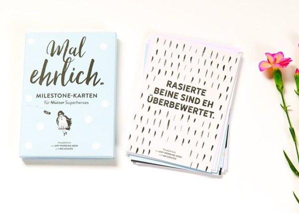 Mal Ehrlich: Milestone-Karten für Mütter (Image Credit: Any Working Mom)