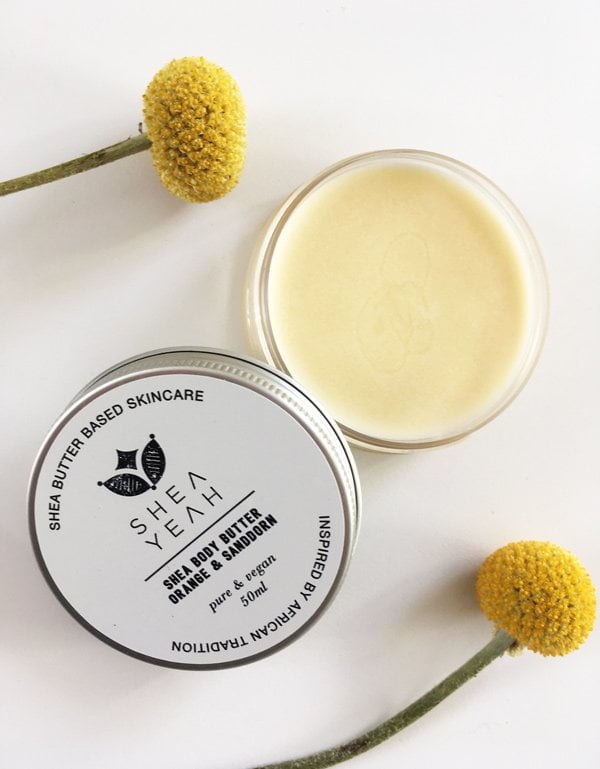 Shea Yeah Shea Body Butter Orange Sanddorn (Naturkosmetik, made in Zurich) – Bild und Erfahrungsbericht von Hey Pretty Beauty Blog