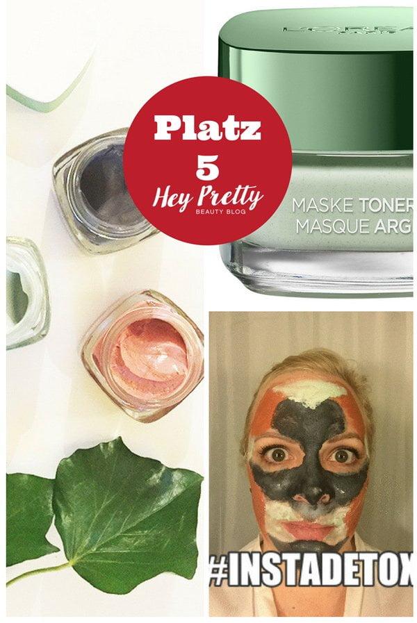 L'Oréal Tonerde Masken: Platz 5 der meistgelesenen Blogbeiträge 2017 auf Hey Pretty Beauty Blog