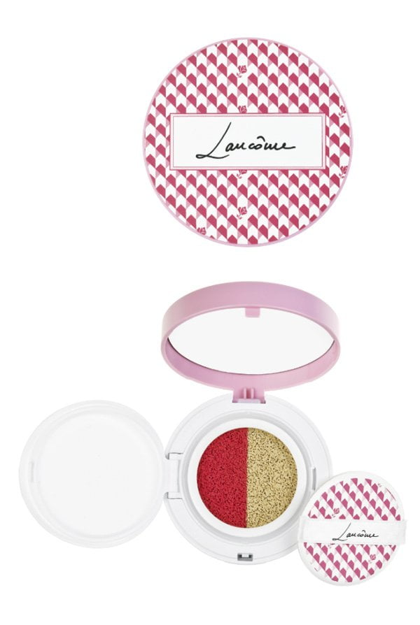 Lancome Duo Cushion in Strawberry (Spring Look 2018: French Temptation), Color Correcting Mousse