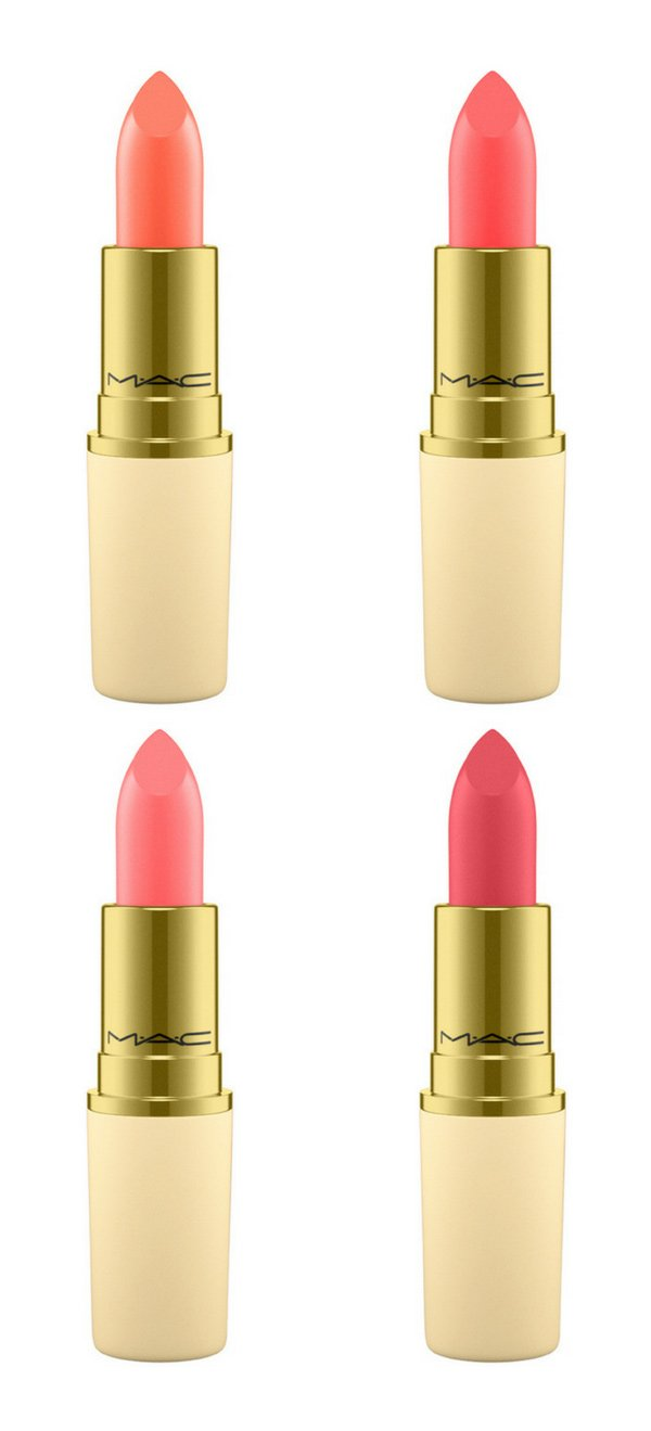 MAC Chinese New Year LUNAR Lipsticks (2018) in Peachy New Year, Prosperity, Pure Happiness und To Luck (Review auf Hey Pretty Beauty Blog)