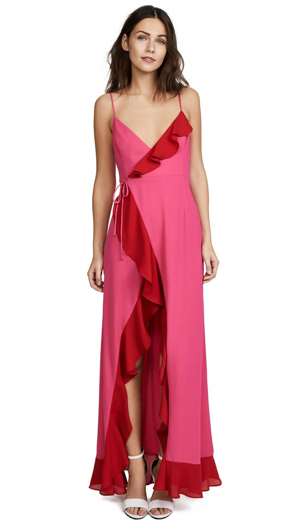 Fame and Partners The Calvin Dress (via Shopbop), Fashion Flash mit lauter Gerüschtem auf Hey Pretty