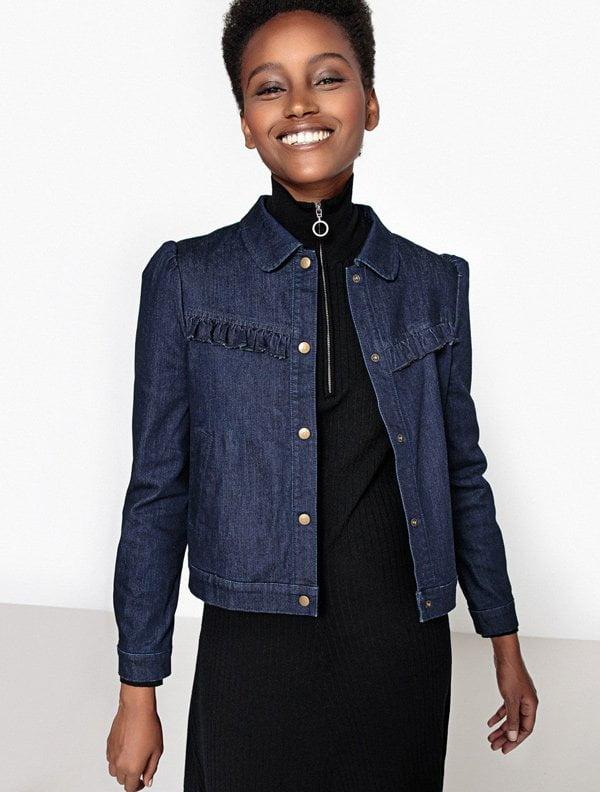 Jeansjacke mit Rüschen von La Redoute (Hey Pretty Fashion Flash)