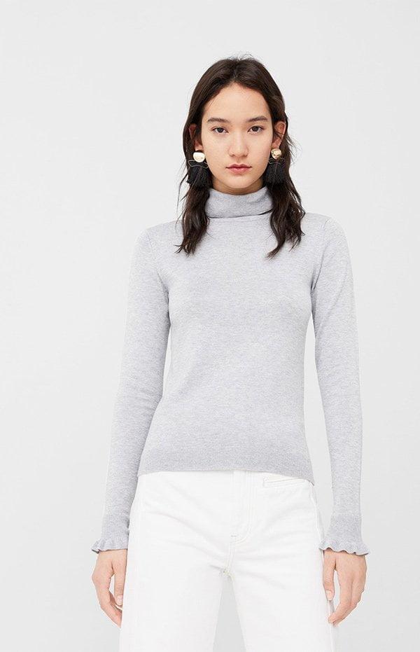 Pullover mit gerüschtem Arm von Mango (Hey Pretty Fashion Flash)