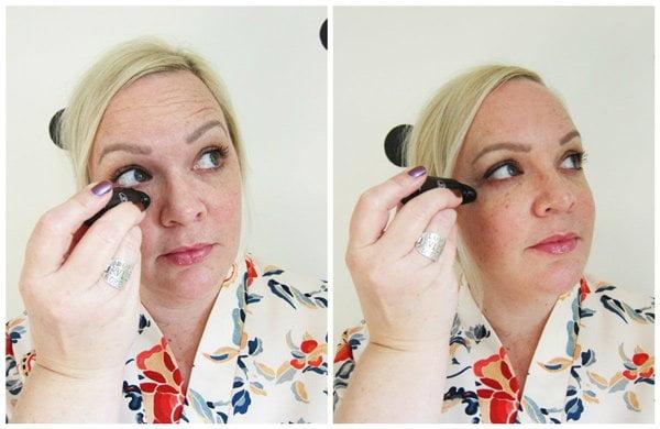 Aufweckende Augenmassage mit bepure: Step 1 – Serum auftragen (Tutorial auf Hey Pretty)