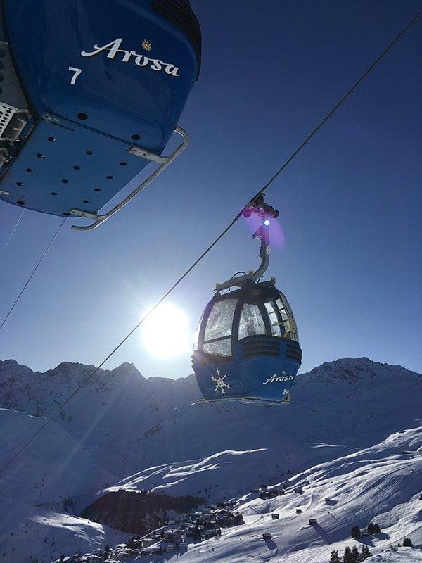 Aussicht von der Tschuggenhütte Arosa (Spa Review auf Hey Pretty)