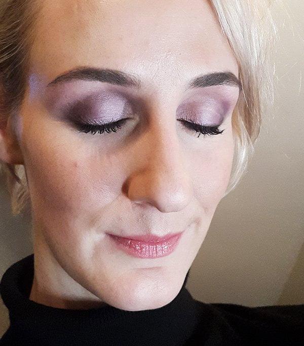 Dr. Hauschka Spring Look 2018 «Purple Light», Make-Up by Karim Sattar (Image by Hey Pretty)