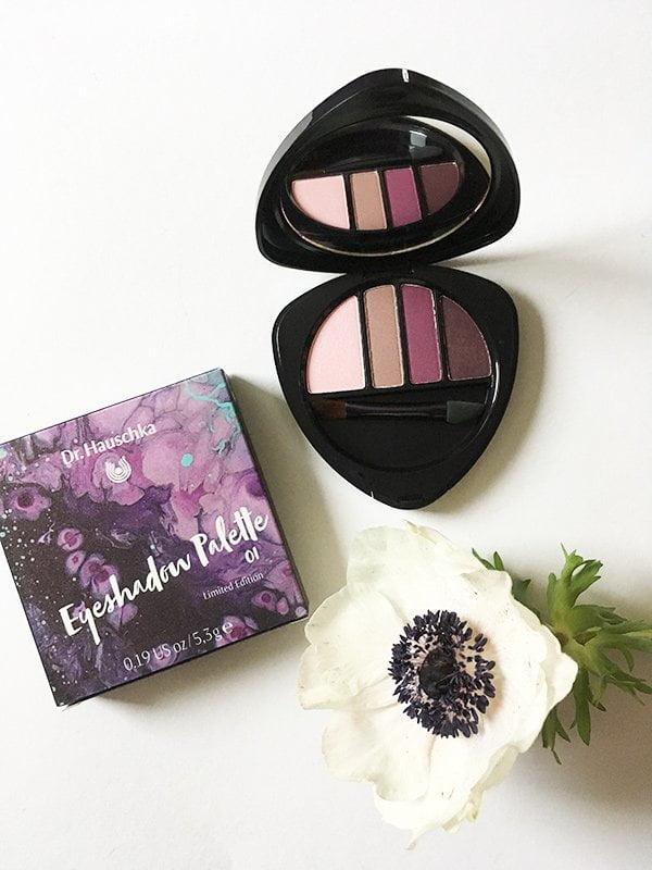 Dr. Hauschka Purple Light Eyeshadow Palette (Spring Look 2018), Erfahrungsbericht auf Hey Pretty