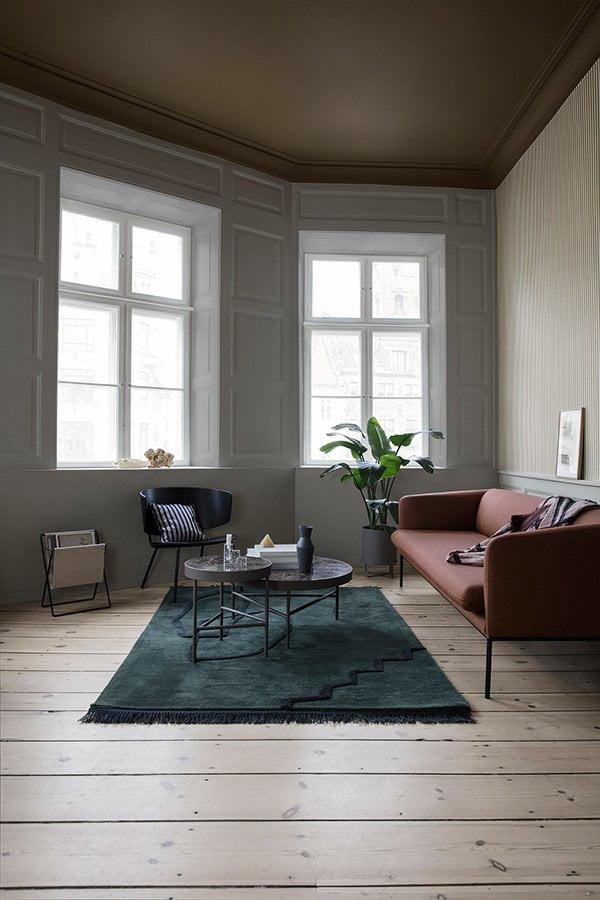 Ferm Living Spring/Summer 2018 Collection: PR Image Desert Rug, Herman Chair, Marble Table, Turn Sofa