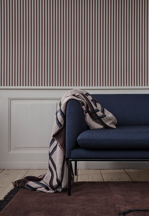 Ferm Living Spring/Summer 2018 Collection: PR Image Checked Wool Blend Blanket, Turn Sofa
