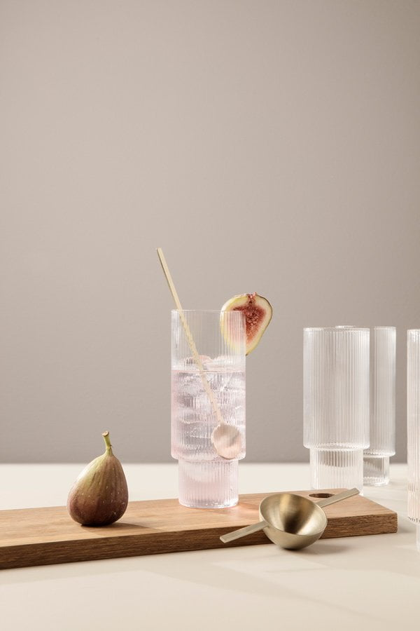Ferm Living Spring/Summer 2018 Collection: PR Image Ripple Long Drink Glass