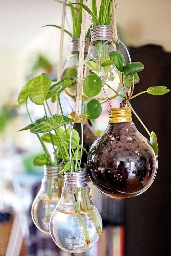 Die schönsten DIY-Frühlingsprojekte auf Pinterest: Hanging Light Bulb Planters von Feeistmeinname (Image Credit: Fee-Jazmin Rompza), Roundup auf Hey Pretty Beauty Blog