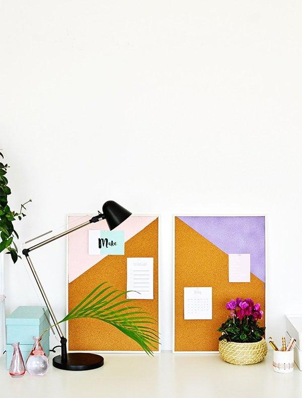 Frühlings-Deko-DIY Ideen auf Hey Pretty: Pinnwand mit geometrischen Mustern von Enthralling Gumption