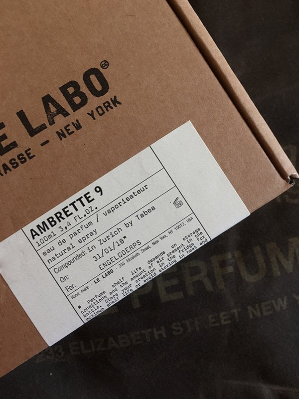 Le Labo Ambrette 9: Box (Review and Image by Hey Pretty)