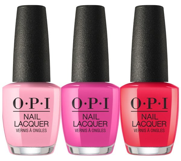 OPI Spring/Summer 2018 Collection: OPI Tagus In That Selfie!, No Turning Back from Pink Street und We Seafood and It It