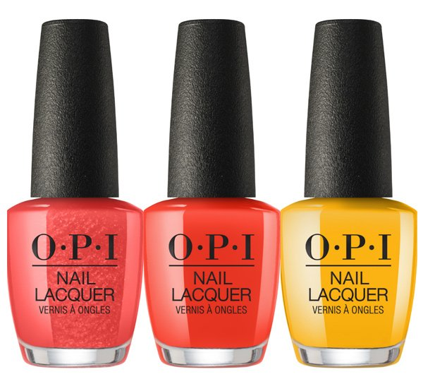 OPI Spring/Summer 2018 Kollektion: Now Museum, Now You Don't, A Red-Vival City und Sun, Sea and Sand In My Pants