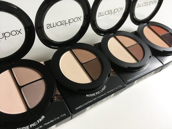 Smashbox Photo Edit Eye Shadow Trios: Nudie Pic Fair, Nudie Pic Light, Nudie Pic Medium and Nudie Pic Deep (Image: Hey Pretty Beauty Blog)