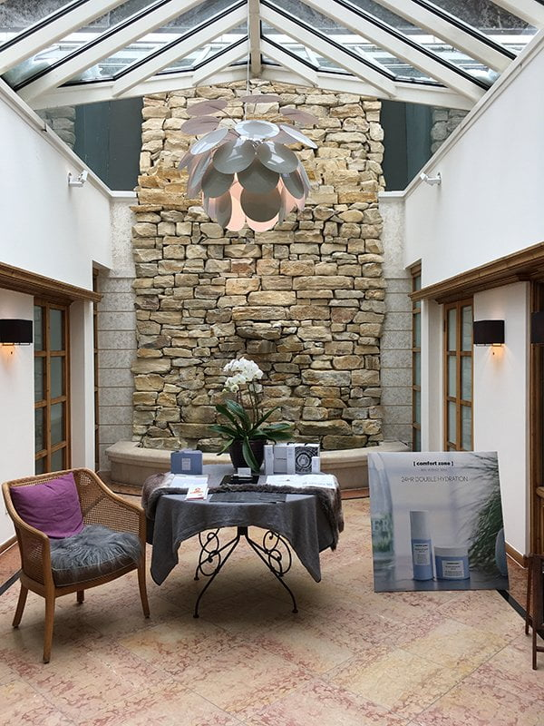 Spa des Hotel Allgäu Sonne: Eingangsbereich und Kosmetik (Image by Hey Pretty)