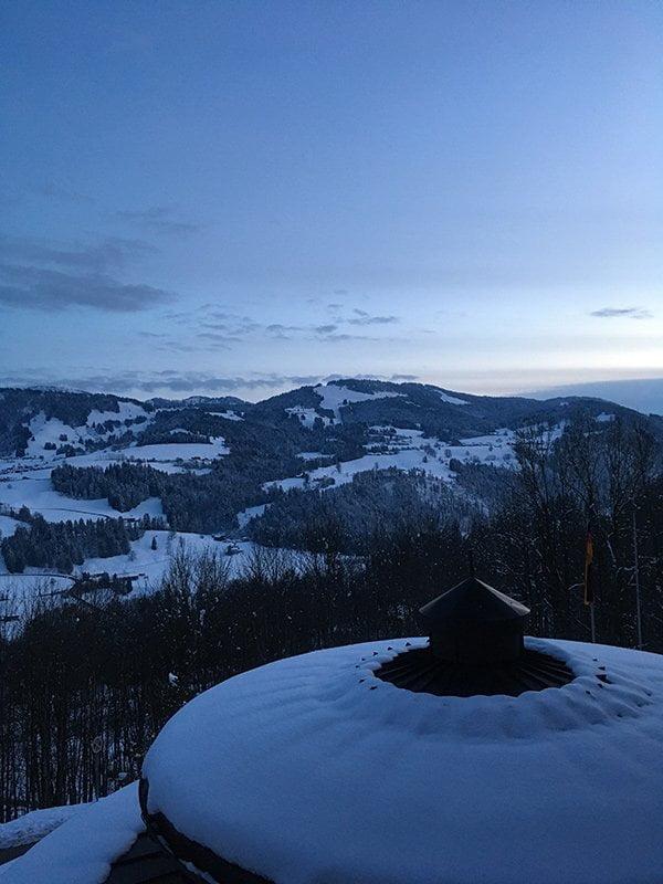 Allgäu Sonne Oberstaufen: Spa Review auf Hey Pretty – Abendsonne im Winter