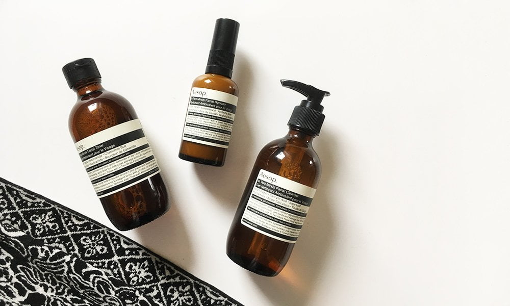 Aesop In Two Minds Kombinationspflege für Mischhaut (Review and Image by Hey Pretty)