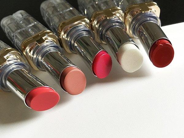 Closeup L'Oréal Paris Color Riche Shine Lippenstifte: Review und Swatches auf Hey Pretty