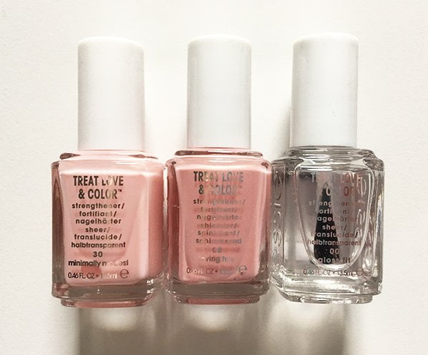 Essie Treat Love & Color in Minimally Modest, Loving Hue und Gloss Fit (Image and Review by Hey Pretty)