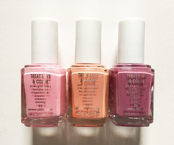 Essie Treat Love & Color in Power Punch Pink, Glowing Strong und Mauve-tivation (Image and Review by Hey Pretty)