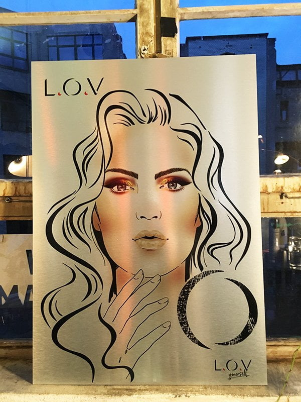Face Chart L.O.V. Cosmetics Neuheiten Frühling 2018, Event in Berlin im Januar (Image by Hey Pretty)