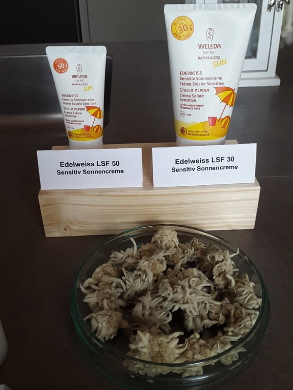 Weleda Zermatt Sonnenpflege Edelweiss Sonnenschutz
