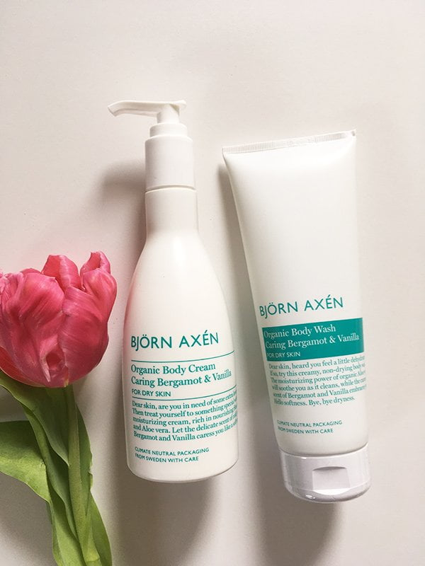 Bjorn Axen Organic Caring Vanilla & Bergamot Body Wash and Body Cream (Hey Pretty Review)